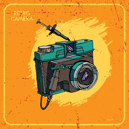 Vector illustration of an retro camera. Vector