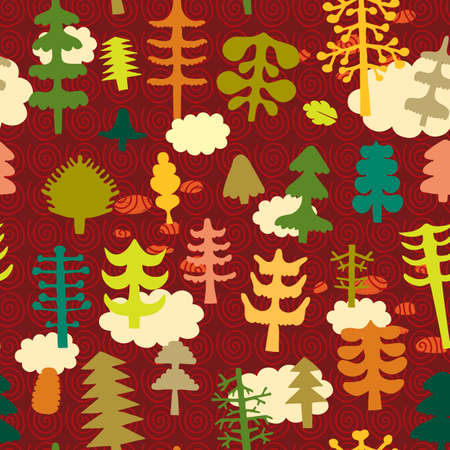 Seamless pattern with different objects from the life of Illustration
