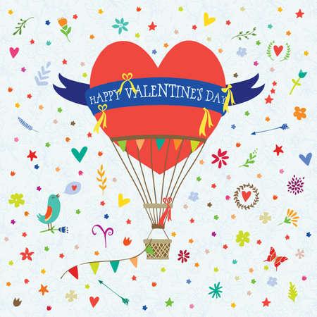 Greeting Card Valentine Illustration