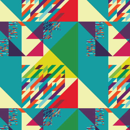 Background with decorative geometric and abstract elements. Vector illustration.