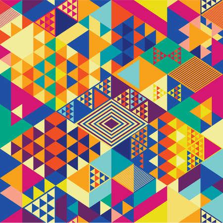 cubismo: Fondo con elementos geom�tricos y abstractos decorativos. Ilustraci�n del vector.