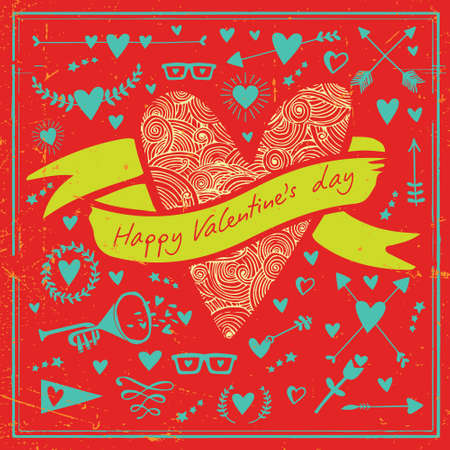 Greeting Card Valentine Illustration