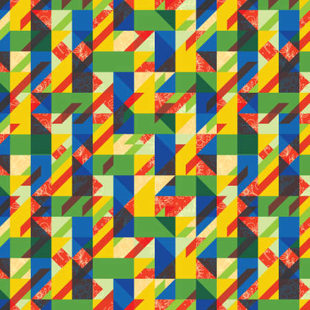 Background with decorative geometric and abstract elements.