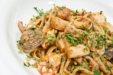 pasta with seafood photo