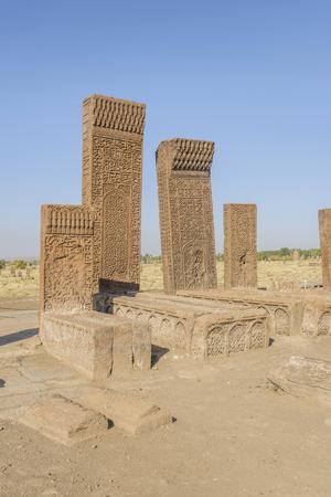 seljuk: seljuk turk cemetery in ahlat, bitlis