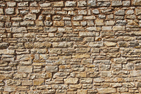 surrounding wall: Centuries-old wall made of sandstone blocks.