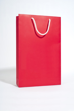 backgroung: Red bag on white backgroung