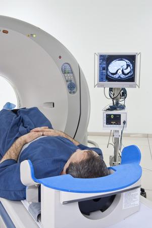 medical scanner: Man in Scanner