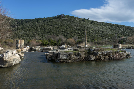 honored: Claros was an ancient Greek sanctuary on the coast of Ionia. It contained a temple and oracle of Apollo, honored here as Apollo Clarius.