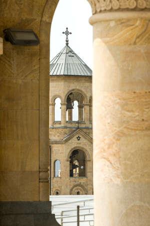 tbilisi: Sameba, Chiesa della Santissima Trinit� a Tbilisi Archivio Fotografico
