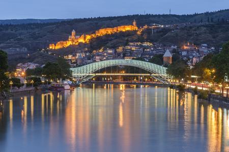 tbilisi: Bella vista panoramica di Tbilisi, Georgia
