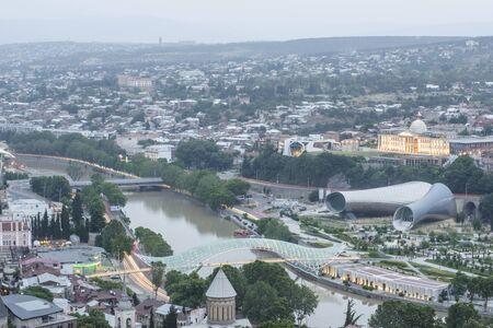 tbilisi: Beautiful panoramic view of Tbilisi, Georgia