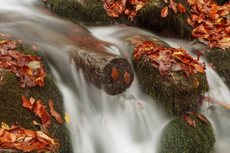 currents: Beautiful waterfall in forest, seven lakes. Turkey Stock Photo