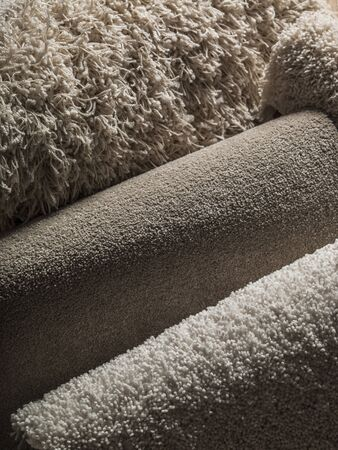 white carpet: Carpet texture - white carpet. Stock Photo