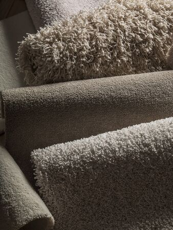 full frames: Carpet texture - white carpet. Stock Photo