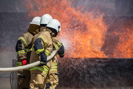 phenomenon: Firefighters Extinguishing House Fire
