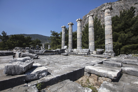 Ruins of the ancient city of Priene, Turkey
