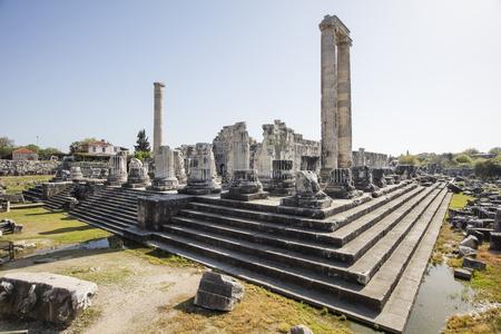 corinthian column: Temple of Apollo in antique city of Didyma