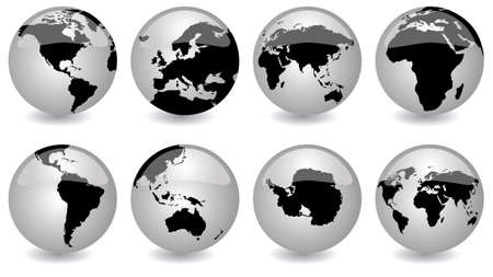 glossy globes Stock Vector - 3728803
