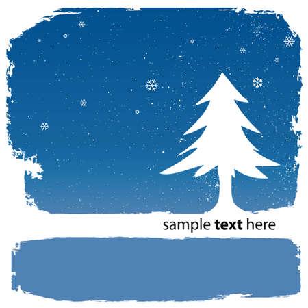 snowbank: christmas tree