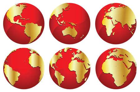 golden worlds Stock Vector - 4123192