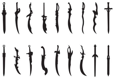 vector collection of swords Vector