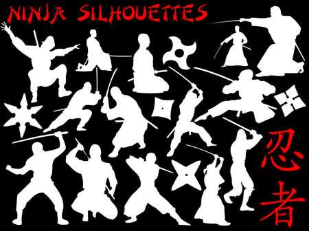 shuriken: vector collection of ninjas
