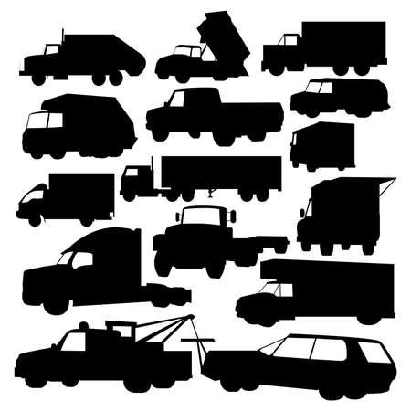 トラックのベクトル コレクション 写真素材