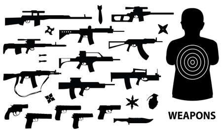 kalashnikov: vector collection of weapons