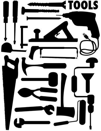 vector collection of tools Stock Photo