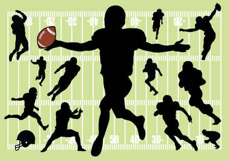 football silhouettes photo