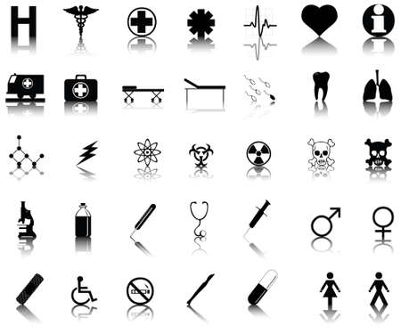 vector collection of medical icons Stock Vector - 6152832