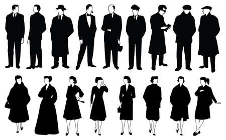 vector people silhouettes Stock Vector - 6162682