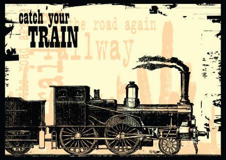 기차 타다.