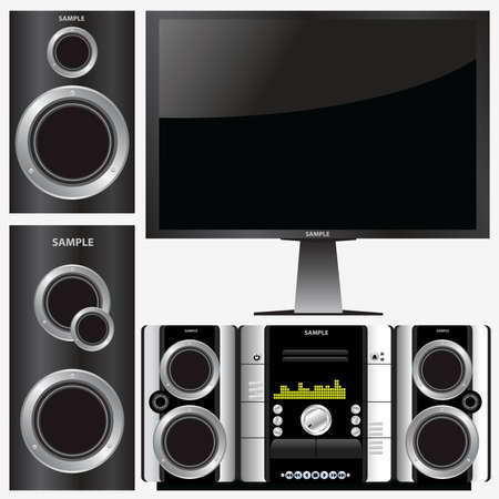 surround stereo system Stock Vector - 6162683