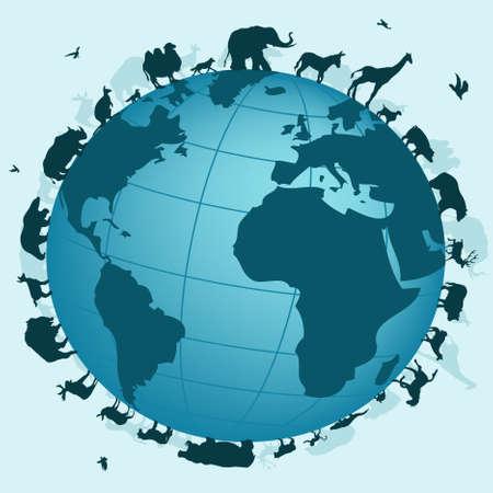 world of animals Vector
