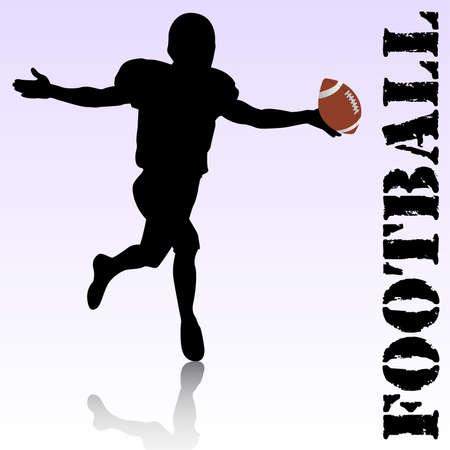 tackling: vector football player Illustration