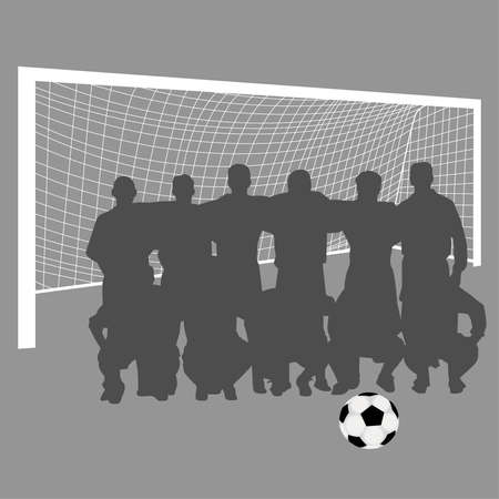 football pitch: soccer team Illustration