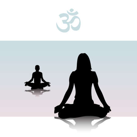 reiki: yoga  Vectores