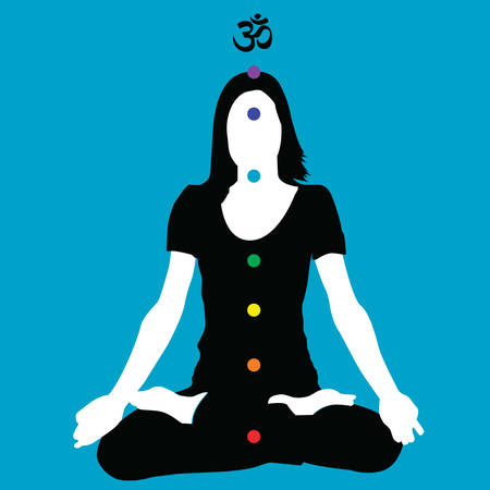 yogi aura: chakras Illustration