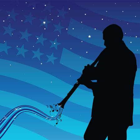 clarinet: man playing the clarinet