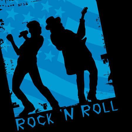rockstar: rocksterren  Stock Illustratie