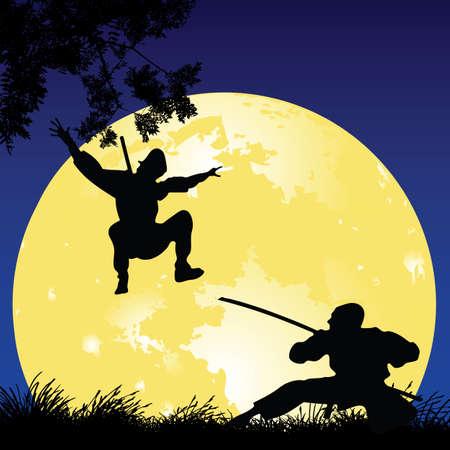 arts backgrounds: ninjas