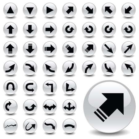 back link: arrows Illustration