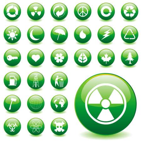 environmental icons Stock Vector - 6170154