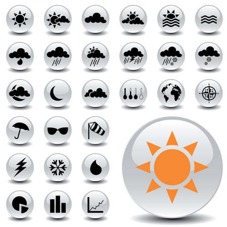 weather icons Stock Vector - 6170220