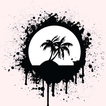 tropical splash Vector