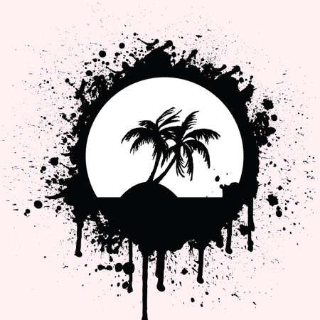 tropical splash Stock Vector - 6170278