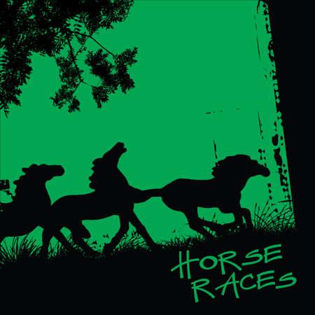 trotando: carreras de caballos