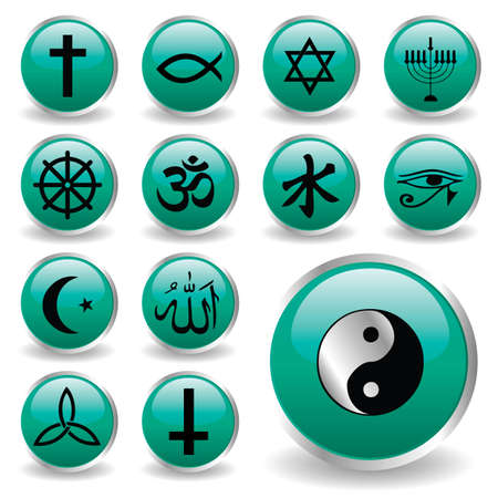 religion icons Stock Vector - 6170150